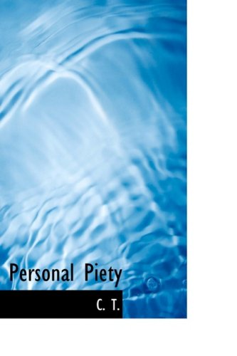 9780554805481: Personal Piety