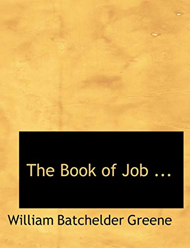 9780554825946: The Book of Job ... (Large Print Edition)