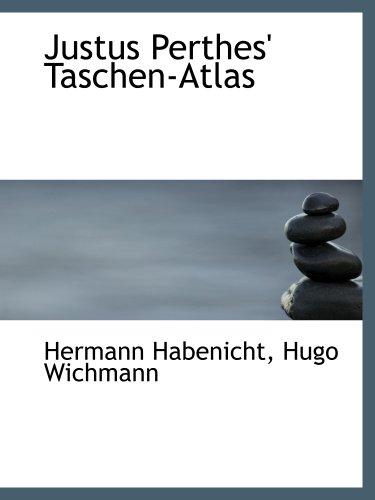 9780554886985: Justus Perthes' Taschen-Atlas (German Edition)