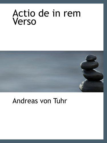 9780554987910: Actio de in rem Verso