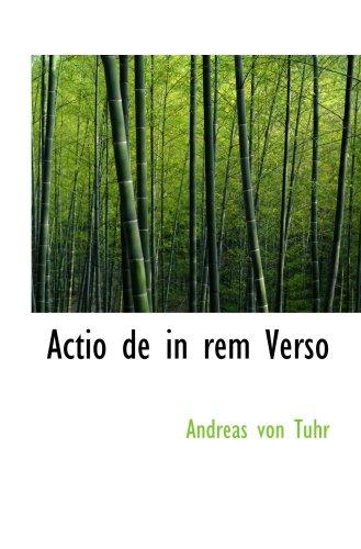 9780554987941: Actio de in rem Verso