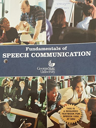 9780555013793: Fundamentals of Speech Communication Custom Georgia State University