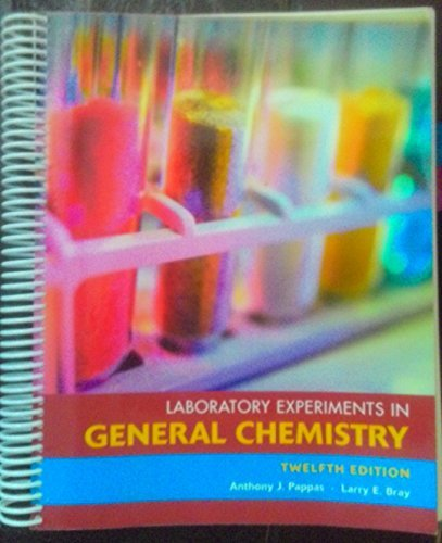 9780555015247: Laboratory Experiments in General Chemistry