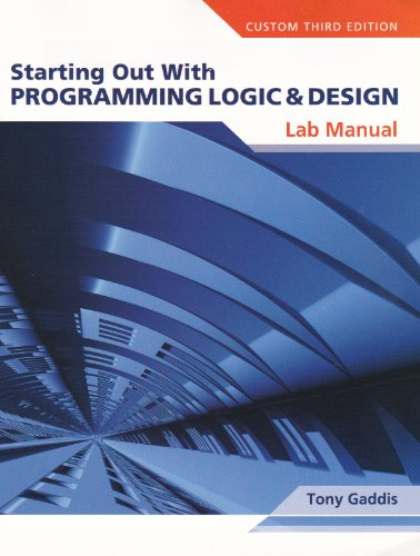 Lab Manual for Starting Out with Programming