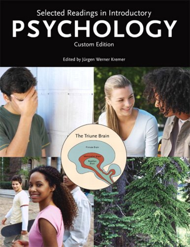 Selected Readings in Introductory Psychology, Custom Edition: Jergen Werner Kremer