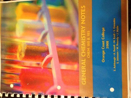 9780555049631: General Chemistry Notes Chem 180 & 185