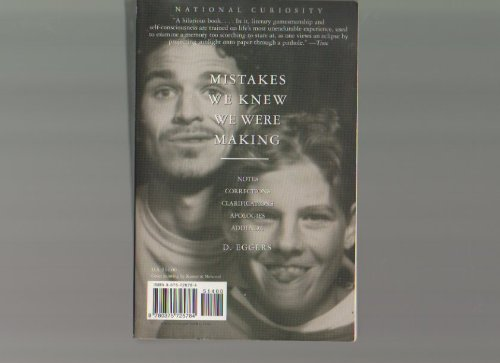 Mistakes We Knew We Were Making: Dave Eggers
