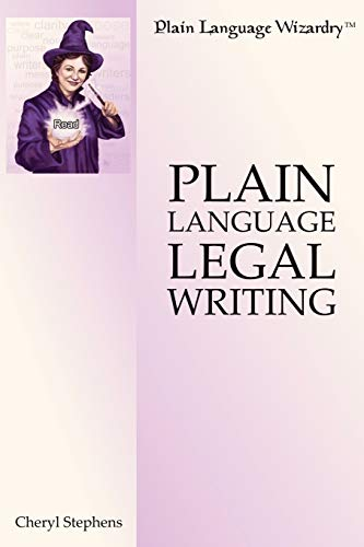 9780557014507: Plain Language Legal Writing