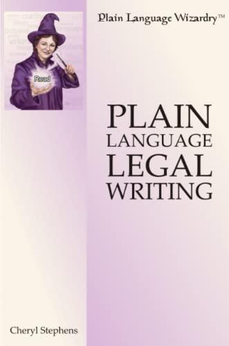 9780557014507: Plain Language Legal Writing
