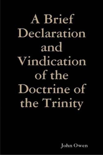 9780557040346: A Brief Declaration and Vindication of the Doctrine of the Trinity