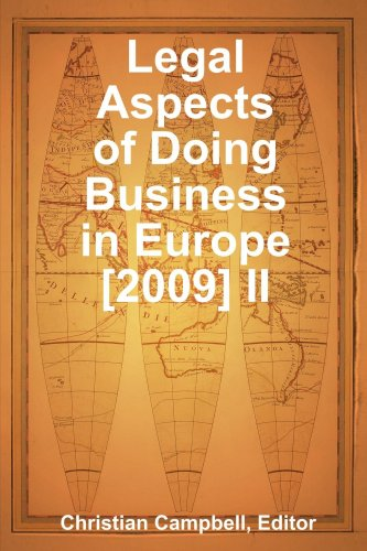 9780557213375: Legal Aspects of Doing Business in Europe [2009] II