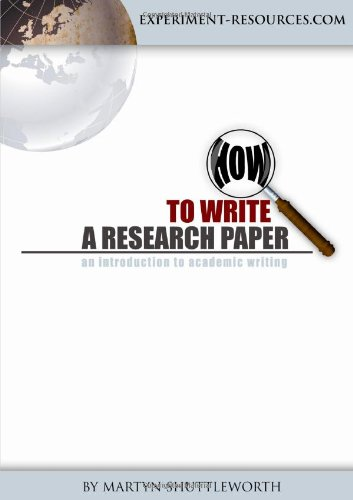 9780557576227: How to Write a Research Paper
