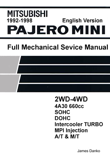 9780557721160: Mitsubishi Pajero Mini 660cc English Mechanical Factory Service Manual