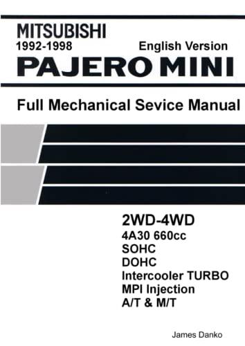 9780557721160: Mitsubishi Pajero Mini 660cc English Mechanical Factory Service Manual