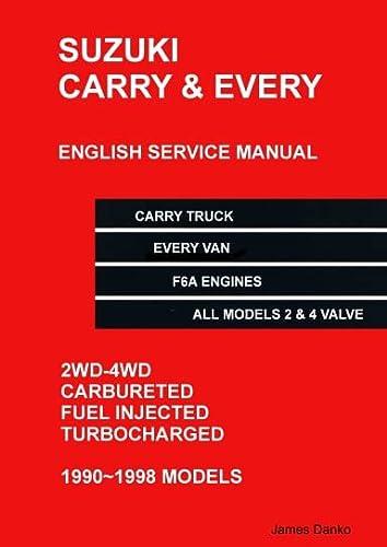 9780557735402: Suzuki Carry Truck & Every Van English Mechanical Service Manual