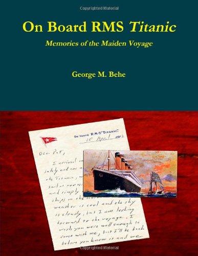 9780557980796: On Board RMS Titanic