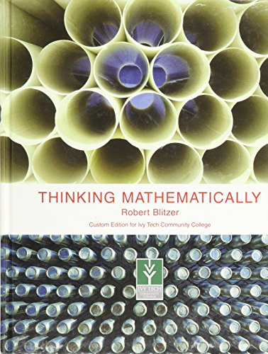 9780558063849: Thinking Mathematically, 4th Edition