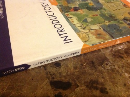 Introductory Algebra for College Students (Math 0930 Algebraic Problem Solving I - Custom Edition ...