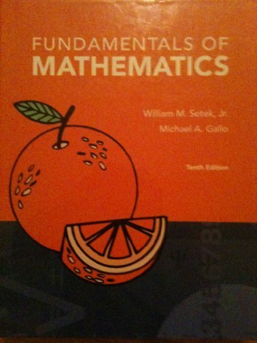9780558085438: Fundamentals of Mathematics
