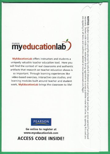 9780558099923: Myeducationlab-access Card >Custom<