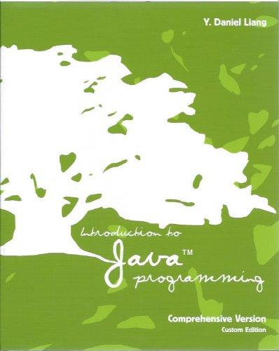 Introduction to Java Programming Comprehensive Version Custom
