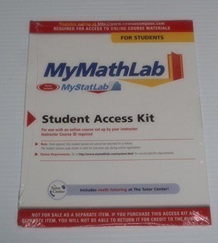 9780558106300: My Math Lab (MyStatLab)