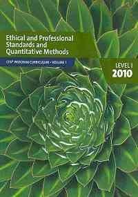 CFA Program Curriculum, Level 1: CFA Institute