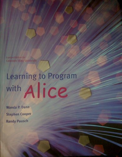 9780558131050: Learning to Program with Alice