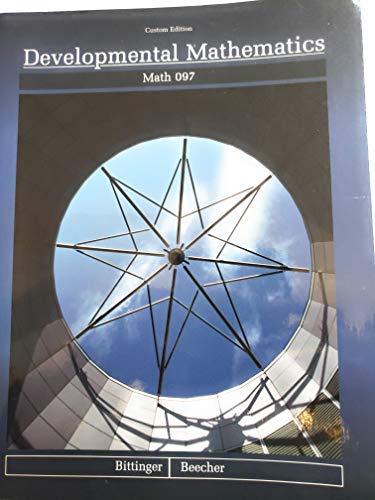 9780558159320: Developmental Mathematics: Math 097, Custom Edition