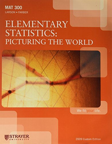 9780558159726: Elementary Statisics: Picturing the World