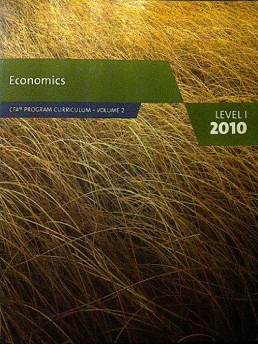 9780558160180: Economics (CFA Program Curriculum level 1, volume 2)