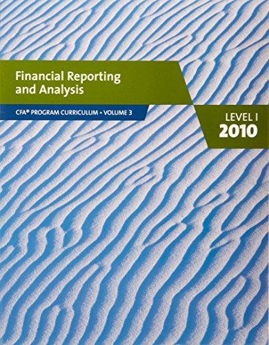 9780558160197: Financial Reporting and Analysis (CFA program curriculum vol 3)