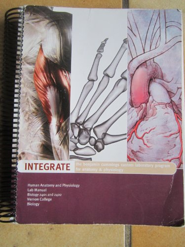 9780558185183: Human Anatomy and Physiology Lab Manual Vernon College - Biology 2401 and 2402 (The Benjamin Cummings Custom Laboratory Program for Anatomy & Physiology)