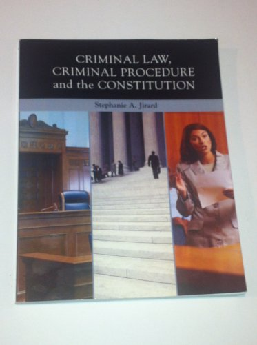 9780558202880: Criminal Law, Criminal Procedure and the Constitution