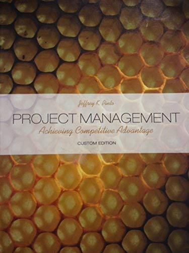 9780558202897: Project Management - Achieving Competitive Advantage (Custom Edition)