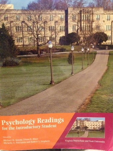 9780558207854: Psychology Readings for the Introductory Student (Virginia Polytechnic and State University)