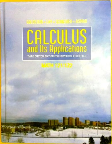 9780558209063: Calculus and Its Applications (Third Custom Edition for University At Buffalo)