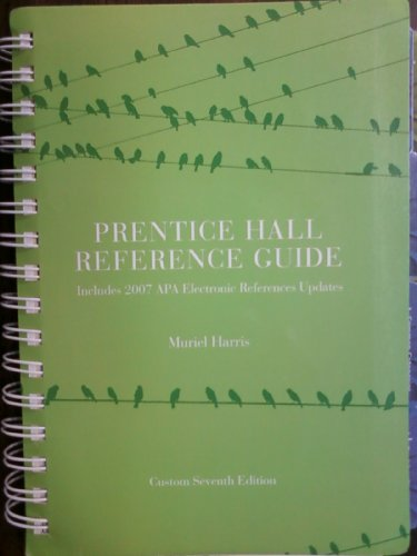 9780558209711: Prentice Hall Reference Guide: (Custom Edition) - Includes 2007 APA Electronic References Updates