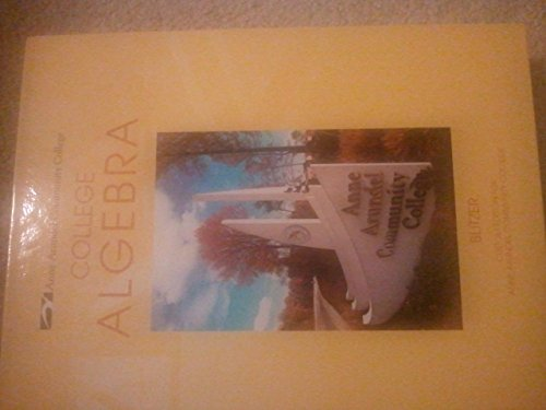 College Algebra [[5th (fifth) Edition]] (9780558217549) by Robert F Blitzer