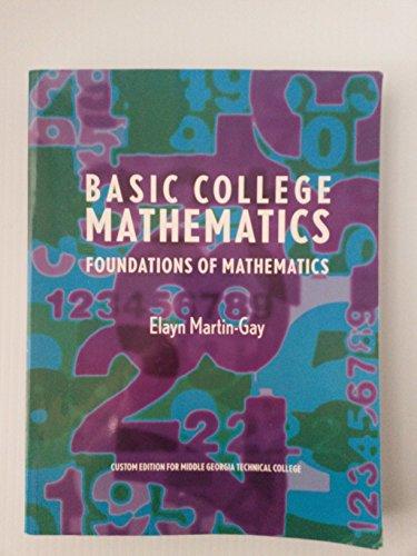 9780558223175: Basic College Mathematics Foundations of Mathematics