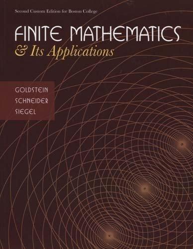 9780558226732: Finite Mathematics and its Applications (Boston College Custom Edition)