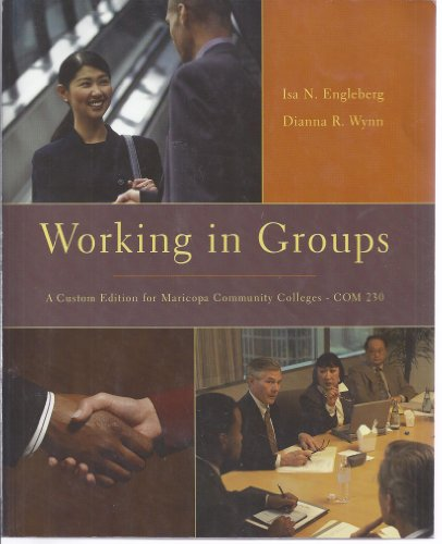 9780558252090: Working in Groups, a Custom Edition for Maricopa Community Colleges - Com 230