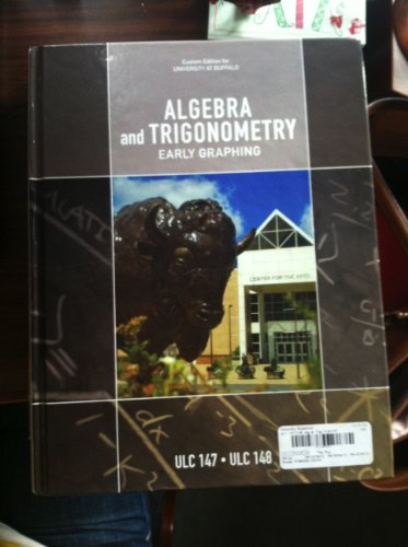 9780558252519: Algebra and Trigonometry Early Graphing