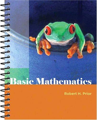 Basic Mathematics (Custom Edition for Cerritos College): Robert H. Prior