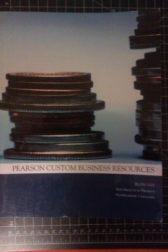 9780558276263: Introduction to Business (Pearson Custom Business Resources) BUSN 1101
