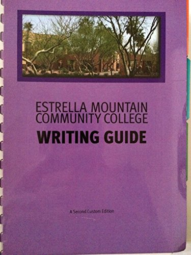 9780558300906: Estrella Mountain Community College Writing Guide (With Pearson Online Access)