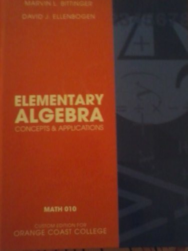 9780558307127: Elementary Algebra Concepts & Applications