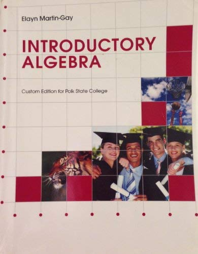 9780558315795: Introductory Algebra (Custom Edition for Polk State College)