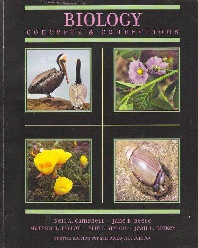 9780558319687: Biology Concepts & Connections (Custom Edition for San Diego City College)