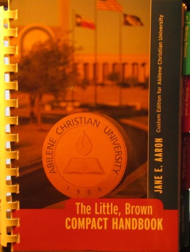 9780558321680: The Little, Brown Compact Handbook (Custom Edition for Abilene Christian University)